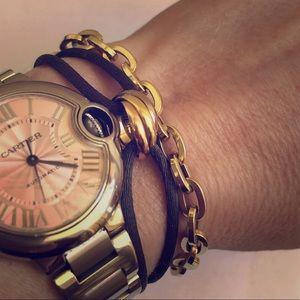 14K Yellow Gold Oval Rolo Chain Bracelet